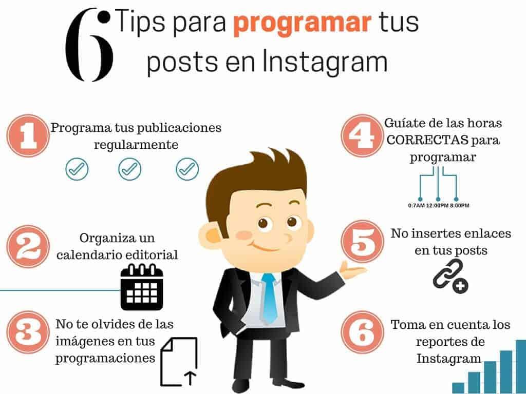 campañas de social media tips para programar en instagram - servicios softcorp
